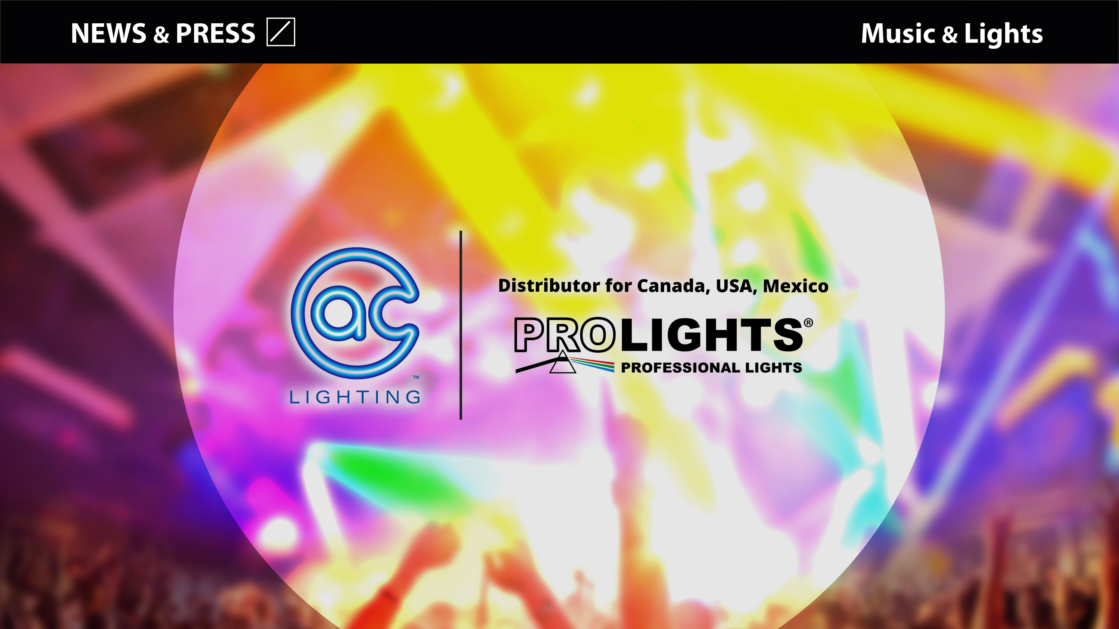 A.C. Lighting Inc. appointed as PROLIGHTS's  North American Distributor