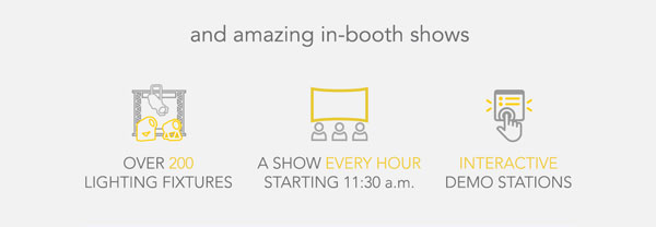 and amazing in-booth shows